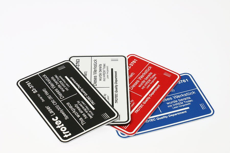 laser engraved machine tags