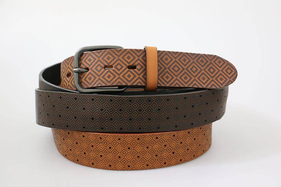 laser engraving for leather belts